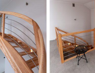 Holztreppe gewendelt